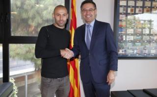 Barcelona: Javier Mascherano renovó con el club culé hasta 2019