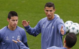 Cristiano Ronaldo discutió con James Rodríguez en las prácticas