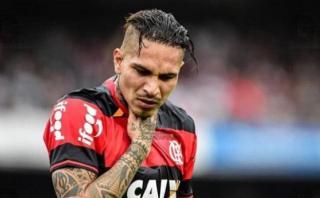 Guerrero: las cifras negativas cuando fue titular en Flamengo