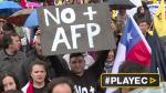 Miles de chilenos marcharon otra vez contra las AFP [VIDEOS] - Noticias de michelle bachelet