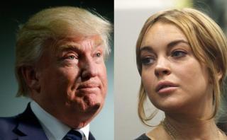 """""""Fantasía"""" de Trump con Lindsay Lohan se filtró en nuevo audio"""
