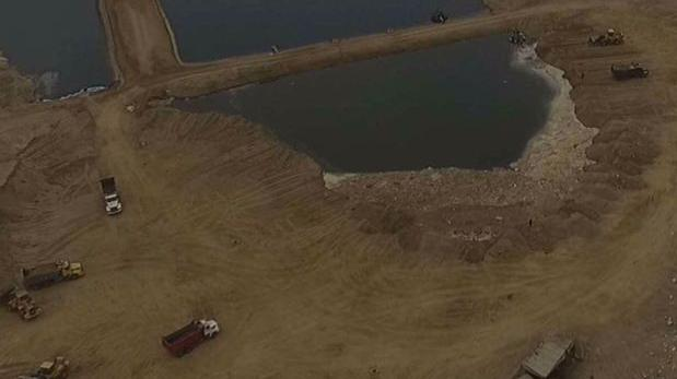 Lurín: acusan a comuneros de arrojo de desmonte en laguna