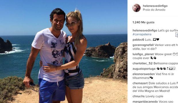 Luis Figo junto a su esposa. (Foto: Instagram)
