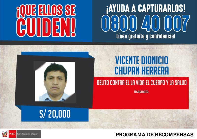 Prófugo por el caso Accomarca fue capturado en una vivienda de Ate. El Ministerio del Interior ofrecía recompensa de 20 mil soles. (América TV) (Foto: Ministerio del Interior)