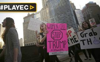 Mujeres marcharon contra sexismo de Donald Trump [VIDEO]