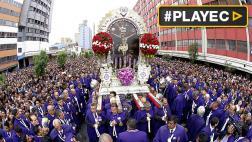 Miles de fieles acompañaron recorrido del Señor de los Milagros