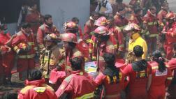 El Agustino: el conmovedor homenaje a los 3 bomberos fallecidos