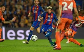Lionel Messi anotó golazo de fuera del área ante el City