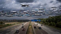 Facebook: el tráfico aéreo del mundo en un solo día