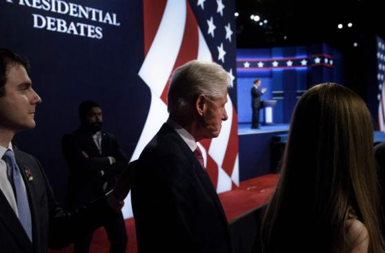Así vivió la familia de Clinton el tercer debate [FOTOS]