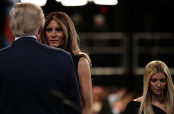 Así vivió la familia de Donald Trump el último debate [FOTOS]