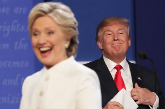 Las mejores fotos del último debate entre Clinton y Trump