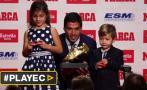 Luis Suárez recibió Bota de Oro a manos de sus hijos [VIDEO]