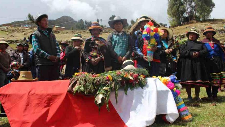 Las Bambas: sepultan a comunero Quintino Cereceda