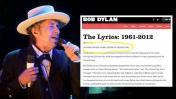 Dylan reconoce Nobel en su web pero después borra publicación