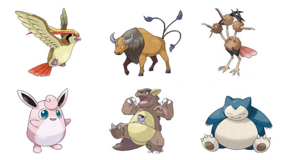 Pokémon Go: los 15 pokémones de tipo normal más fuertes