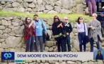 Demi Moore recorrió así la ciudadela inca de Machu Picchu