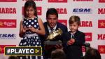 Luis Suárez recibió Bota de Oro a manos de sus hijos [VIDEO] - Noticias de luis suarez