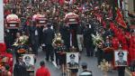 El último adiós a valerosos bomberos que murieron en incendio - Noticias de alezander salas