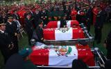 Cuerpos de los 3 bomberos héroes fueron enterrados en Huachipa