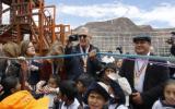 Testino y modelos internacionales inauguraron parque en Cusco
