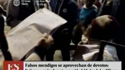 Falsos mendigos: capturan a mujer que engañaba en procesión