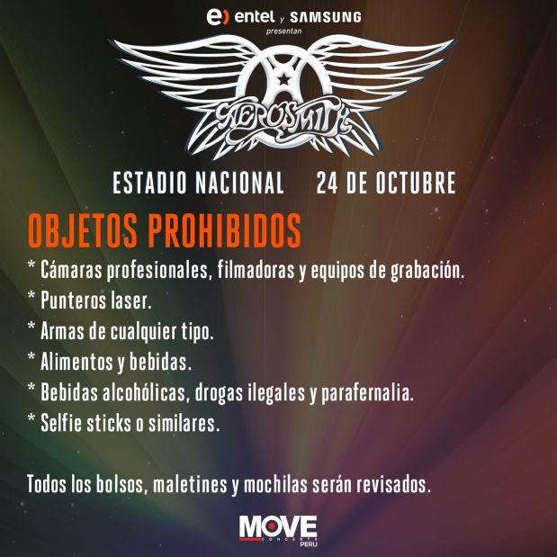 Los mejores momentos de su concierto en Lima [FOTOS — Aerosmith