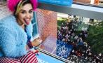 Miley Cyrus visitó universidad para pedir que voten por Clinton