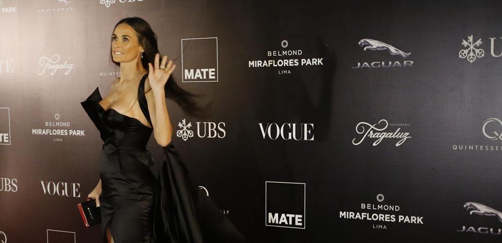 La actriz se lució en gala del MATE