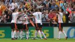 Valencia sorprendió a Barcelona con dos goles en cuatro minutos - Noticias de renato cesar avalo loo