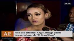 """Angie Arizaga lloró tras perder copa de """"El gran show"""" [VIDEO]"""
