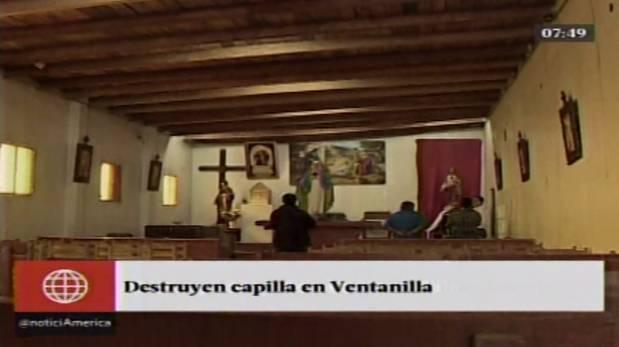 Callao: joven con problemas mentales destruye capilla