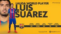 Luis Suárez fue el mejor jugador 'no europeo' de la Liga pasada