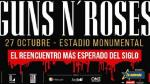 Concierto de Guns N´ Roses: La meta es el 'sold out' - Noticias de concierto de metallica en lima