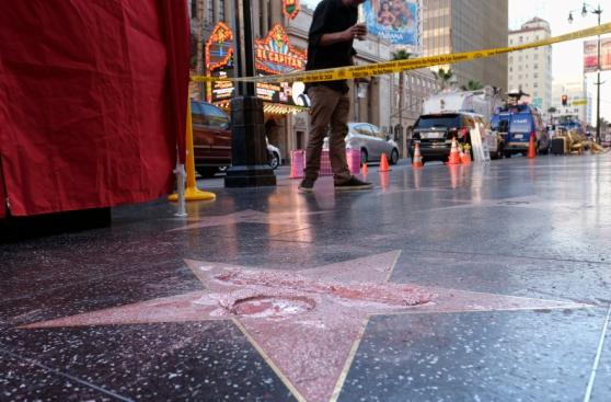 Donald Trump: Destrozaron su estrella del Paseo de la Fama