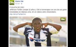 """Farfán: diario """"Olé"""" lo homenajeó por cumpleaños con este video"""