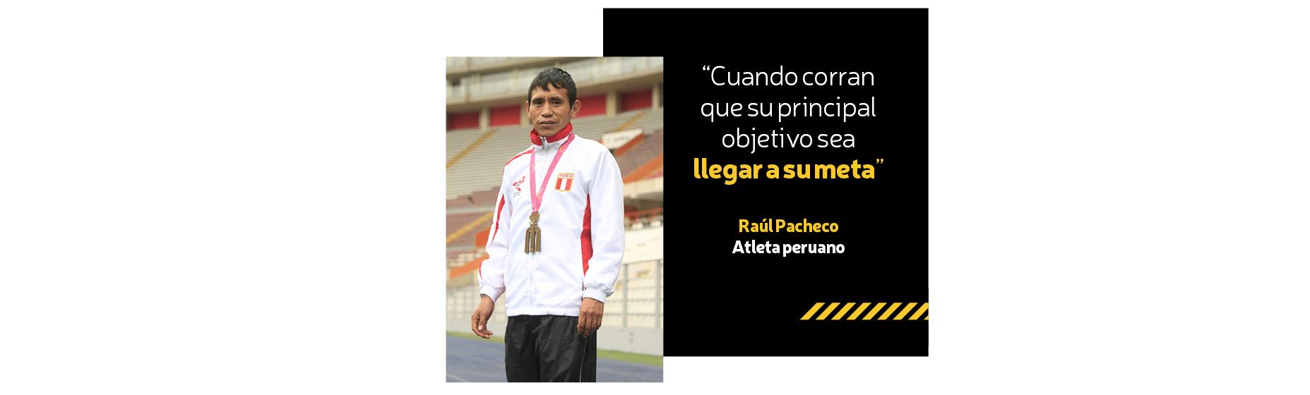 Raúl Pacheco, atleta peruano.
