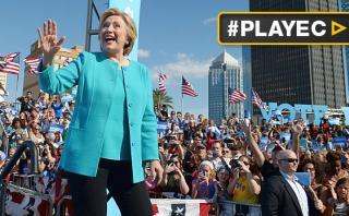 Hillary Clinton pasó su cumpleaños haciendo campaña en Florida