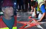Arrestan a hombre que destrozó estrella de Trump en Hollywood