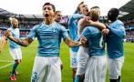 Yotún: masiva invasión de fans del Malmö a campo tras campeonar