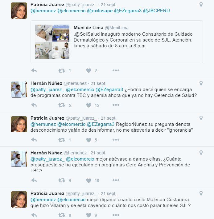 Este es el intercambio de tuits que generó una denuncia por
