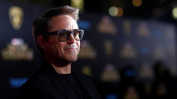Actor Robert Downey Jr. poses at the premiere of