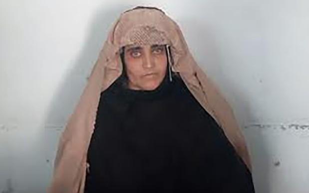 Sharbat Gula, detenida. (AFP)