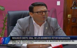 Bomberos: Mondragón renunció al cargo de comandante general