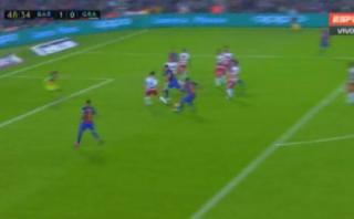 Barcelona: Rafinha anotó golazo de 'media chalaca' en la Liga
