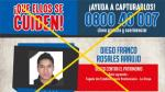 Programa de recompensas: Cayó reo que fugó de penal de La Oroya - Noticias de andres franco
