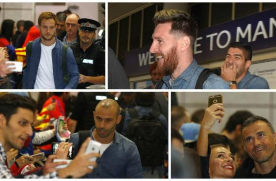 Barcelona, Messi y Suárez, causó furor en llegada a Manchester