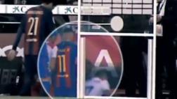 Neymar y una acción reprochable: empujó a rival de escaleras