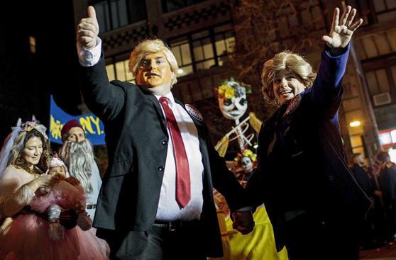 Clinton y Trump: Los disfraces preferidos en este Halloween