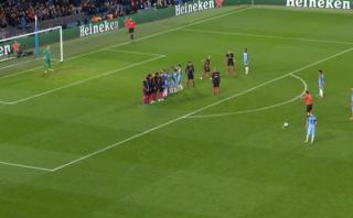 Kevin de Bruyne anotó golazo de tiro libre al Barcelona [VIDEO]